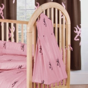 Pink Buckmark Crib Nappy Stacker