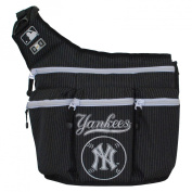 Infant Nappy Dude 'New York Yankees' Messenger Nappy Bag - Black
