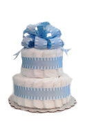 Classic Pastel Baby Shower Nappy Cake