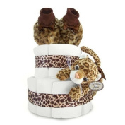 Luxe Leopard Couture 2-Tier Nappy Cake