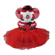 Lovely Ladybug Tutu 3 Tier Nappy Cake Shower Centrepiece