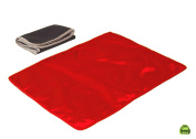 I Frogee Red Satin Nappy Changing Pad 46cm x 33cm