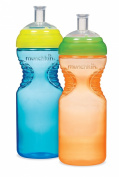 Munchkin BPA Free Mighty Grip Sports Bottle 2 Pack, 300ml,Colours Vary