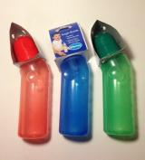 """lot of 3 BABY KING ANGLED Baby Bottles 240ml Dishwasher Safe BPA-FREE """"nip"""""""