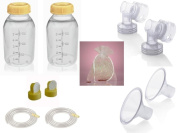 Medela Replacement Parts Kit Pump In Style Original Advanced with Small 21 mm Breast Shield and Tubing #8007212 with Bonus Breast Care Kit from Mom and Baby Shop