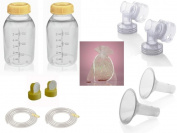 Medela Replacement Parts Kit Pump In Style Original Advanced with Large 27 mm Breast Shield and Tubing #8007212 with Bonus Breast Care Kit from Mom and Baby Shop