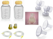 Medela Replacement Parts Kit Pump In Style Advanced with Medium 24 mm Breast Shield and Tubing #8007214 with Bonus Breast Care Kit from Mom and Baby Shop