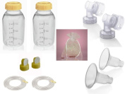 Medela Replacement Parts Kit Pump In Style Original Advanced with XXL 36 mm Breast Shield and Tubing #8007212 with Bonus Breast Care Kit from Mom and Baby Shop