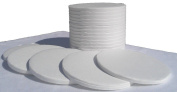 Sartorius Style 90mm Binderless Glass Fibre Sample Pads for Moisture Analyzers - 1 Case of 2400 (12 Boxes of 200) Sample Pads by Nevada WeighingTM Brand