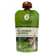 Peter Rabbit Organics Pea Spinach and Apple Puree 130ml Pouches