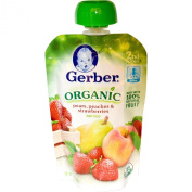 Gerber Organic 2nd Foods Pouch 100ml - Pears Peaches & Strawberries