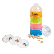 The Zoli Baby On-The-Go Formula & Snack Dispenser with Extra Lids