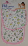 Cribmates Baby's Bib & Burp Cloth Set