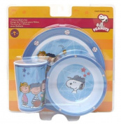 Peanuts Baseball Gang 3 Piece Feeding Set