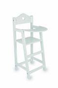 White Wooden dolls highchair