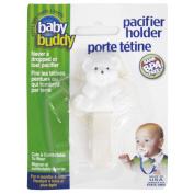 Baby Buddy Unisex Pacifier Holder Clip, Cream, 4 Months and Up