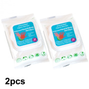 ORGANIC UNSCENTED HAND & BODY WIPES WITH ORGANIC ALOE VERA EXTRACT, ALCOHOL, PARABEN FREE