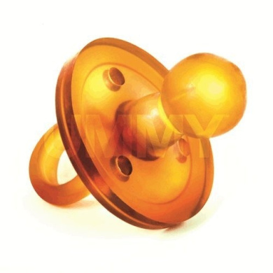 The UMMY: BPA-free 100% Natural Rubber Pacifier with Round Nipple