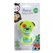 New Pureen Skittle Soother Baby Pacifier and Holder BPA Free for 6 Months+