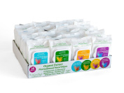 24 PACK ASSORTED ORGANIC CUCUMBER, LEMON, LAVENDER HAND & BODY WIPES WITH ORGANIC ALOE VERA EXTRACT, ALCOHOL, PARABEN FREE