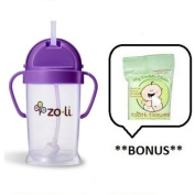 ZoLi BOT XL Straw Sippy Cup (Various Colours) with **BONUS** Sample of Tooth Tissues