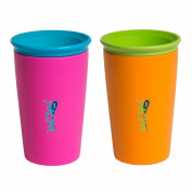 Wow Cup for Kids - New Innovative 360 Spill Free Drinking Cup BPA Free, 240ml - 2 Pack