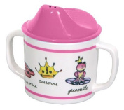 Pink Princess Melamine Child's Sippy Cup - French Wording