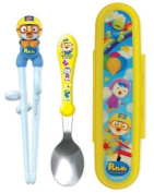 Pororo Spoon and Chopstick Trainer(Right Hand) Set with Hardcase