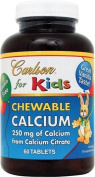Carlson Labs Carlson for Kids Chewable Calcium, 250mg, 60 Tablets