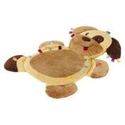 Taggies Tags 'N Snuggles Mat - Brown Dog