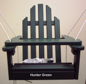 Hunter Green Children's Adirondack Swing - Rope & Seat Belt Included - Weather Resistant Aspen Wood -41cm square x 51cm High - Made in USA -HUNTER GREEN