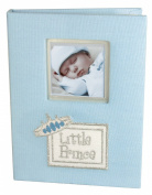Stephan Baby Little Prince Keepsake Mini Photo Album Brag Book, Blue