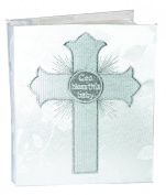Stephan Baby God Bless This Baby Keepsake Photo Album with Embroidered Cross