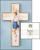 First Communion Praying Boy or Girl Figure Wall Room Cross