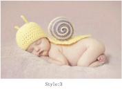 Handmade Children Hat Newborn Baby Crochet Beanie Toddler Knitted Animal Hat Photography Props Baby Costume Yellow Colour