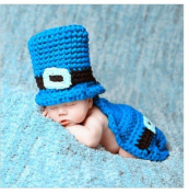 Blue and Black Colour Baby Studio Clothing Crochet Hats Baby Animal Hat Cap Baby Photography Propbaby Crochet Knitted Costume