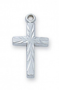 Sterling Silver BABY CROSS WITH 33cm CHAIN
