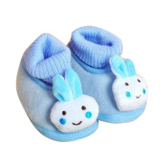Colourful Little Rabbit Design Fanny Baby Fashion Toddlers antiskid newborn warm Shoes cotton bottom non-slip soft Shoes infant cartoon Footwear-4 kinds of the colour with 3 shades