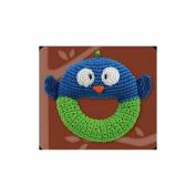 Crocheted Owl Ring Rattle by Dandelion - 51004