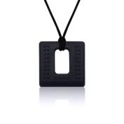 Siliconies Square Pendant (Teething/Nursing/Sensory) - Black