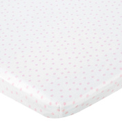 . Knit Bassinet Sheet - Pink Dot