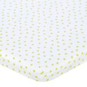 . Percale Bassinet Sheet - Lime Dot