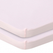 . Knit Bassinet Sheet 2 Pack - Pink