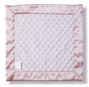 SwaddleDesigns Baby Lovie, Security Blanket, Plush Dots with Pastel Pink Satin Trim