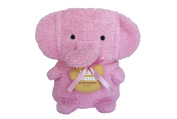 Towel Treat Plush Blanket, Pink Elephant