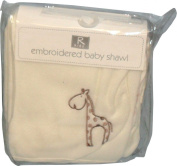 R Kids Elli & Raff Fleece Baby Shawl Blanket Cream