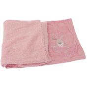 Baby Bunny Design Super Soft Fluffy Feel Pram Blanket -Unisex/Boy/Girl Options