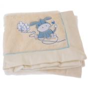 Baby Animal Design Super Soft Fluffy Feel Pram Blanket -Unisex/Boy/Girl Options (77cm x 98cm)