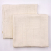 Natural (Unbleached) Organic Muslin Swaddling Blankets - 2 pack