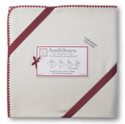 SwaddleDesigns Organic Ultimate Receiving Blanket, Natural with Colour Trim